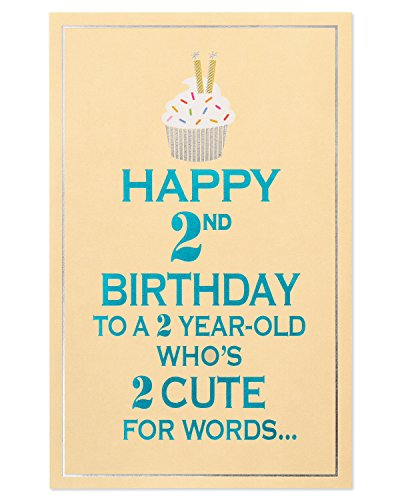 upcake 2nd Birthday Card with Foil ()
