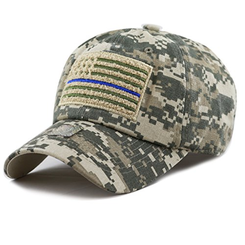 The Hat Depot Low Profile Tactical Operator USA Flag Buckle Cotton Cap