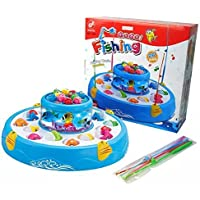 Shop & Shoppee® Magnetic Rod Fishing Game with Rotating Fishing Pond -Light & Music Function (Multicolor)