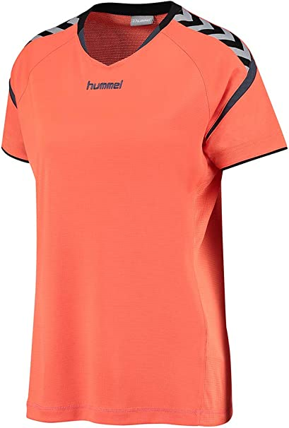 hummel AUTH Charge SS Poly Jersey Donde Camiseta: Amazon.es: Ropa ...