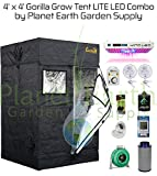 Gorilla Grow Tent LITE (4′ x 4′) LED Combo Package #1 For Sale