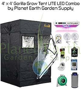 Amazon Com Gorilla Grow Tent Lite 4 X 4 Led Combo