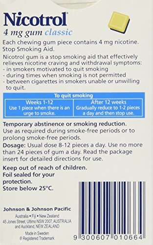 6 Boxes Nicotrol Nicotine Gum 4mg Original Classic 630 Pieces by Nicotrol (Image #2)
