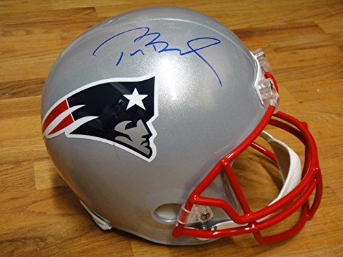 (TOM BRADY SIGNED NEW ENGLAND PATRIOTS FULL SIZE HELMET STEINER & TRISTAR CERTS)