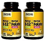 Jarrow Formulas Methyl B-12/Methyl Folate and Pyridoxal-5-phosphate (P-5-P) Lozenges, 200 Count