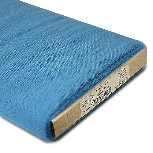 (Expo International 54-Inch Classic Nylon Tulle Fabric, 25-Yard Bolt, Light Blue )