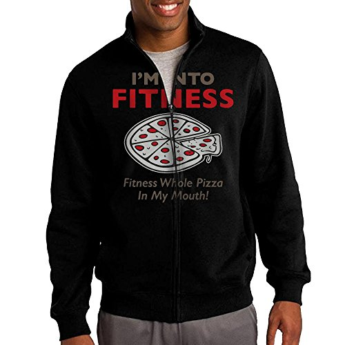I'm Into Fitness Whole Pizza In My Mouth Men's Sweatshirt,Long Sleeve Outer Jacket For - In Traverse Stores City