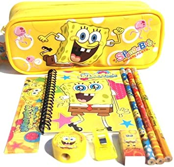 Spongebob Pencil Case and Stationary Set -Gift Set for Boys by Soma Gifts: Amazon.es: Oficina y papelería