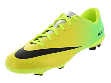 a29debe5dad Nike Kids Jr Mercurial Veloce FG Vibrant Yellow Black Neo Lime Soccer Cleat  4