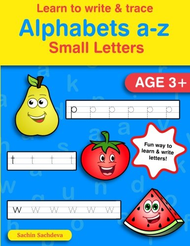 Learn to Write & Trace Alphabets a-z: Small Letters