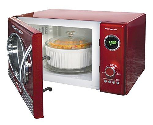 082677242211 - Nostalgia Electrics RMO400RED Retro Series .9 CF Microwave Oven, Red carousel main 2