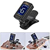 Andoer Rowin Automatic Digital Electronic Clip-On Tuner LCD Screen for Guitar Chromatic Bass Ukulele Violin