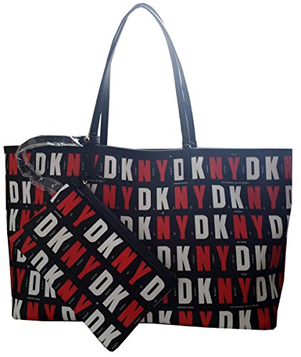 Dkny Donna Karan New York Coated Logo Reversible Tote Shopper Handbag Purse - Logo Michael Kor