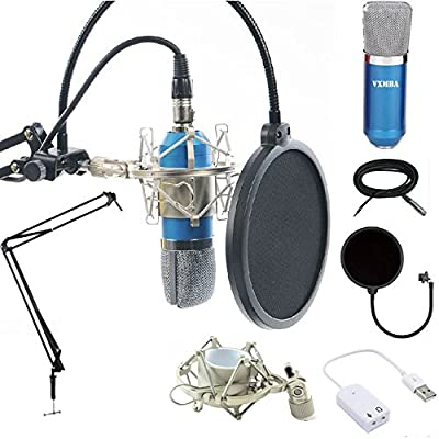Professional Condenser Microphones +Power Supply Cables stand suit+3.5mm Male to XLR Female Cable+Ball-type Foam Cap +Metal Shock Mount +Table Mounting Clamp+Pop Filter from Microsoft