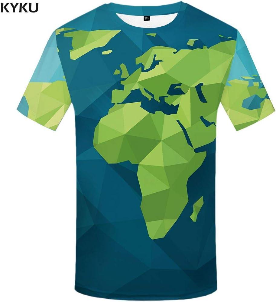KYKU Camiseta psicodélica Hombres Navidad Navidad 3D Camiseta Punk Rock Ropa Fuegos Artificiales Camiseta Impresa Partido Divertido para Hombre Ropa Tops: Amazon.es: Deportes y aire libre