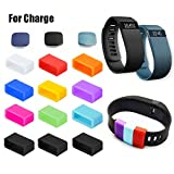Fitbit Charge Fastener Ring, HWHMH 12pcs Silicon Fastener Ring with 3pcs Clasp for Fitbit Charge Wristband - Fix the Clasp Fall Off Problem - (Note: Tracker or Wristband Not Included) (Pack of 12)