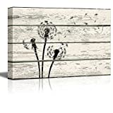 Cheap Wall26 – Dandelion in Wind Artwork – Rustic Canvas Wall Art Home Decor – 16×24 inches