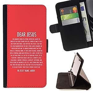 BullDog Case - FOR/Sony Xperia Z1 Compact D5503 / - / DEAR JESUS /- Monedero de cuero de la PU Llevar cubierta de la caja con el ID Credit Card Slots Flip funda de cuer