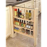 "Rev-A-Shelf 432-BF-3C 432 Series 3"" Base Filler Pull Out Organizer with Adjustab, Natural Wood"