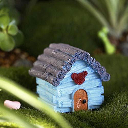 Figurines & Miniatures - Home And Garden Kawaii Mini Dollhouse Miniatures Cottage House Terrarium Fairy Gnome Moss Resin - Bins Modern Pillows Diffuser Farmhouse Lamp Futon Quilt Accessories Gi