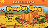 Bigelow Pumpkin Spice Tea 20-Count (Pack of 6) Caffeinated Individual Black Tea Bags, for Hot Tea or Iced Tea, Drink Plain or Sweetened with Honey or Sugar