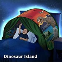 Lovne Kids Play Tent Childs Bed Tent Playhouse for Boys Girls Fun Plays Christmas & Birthday Gifts (Dinosaurs World)