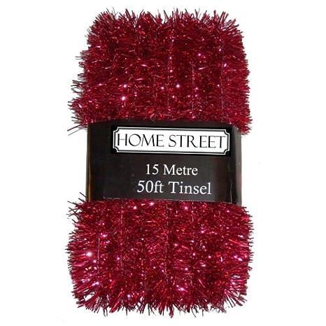 Extra lungo, 15metre, 15,2m, molto lungo Tinsel by Homestreet® in una scelta di rosso, argento o oro decorazione di Natale Gold 15metre 2m molto lungo Tinsel by Homestreet® in una scelta di rosso