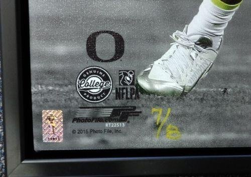 Marcus Mariota Autographed Signed Framed 20x24 Canvas Photo Oregon #/8 Mm 91865 Autographed College Art