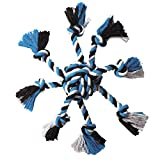Zanies Crazy Eight Rope Dog Toys, Blue