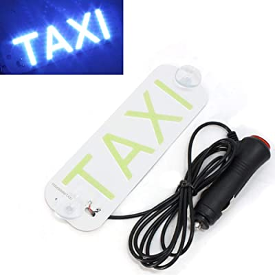 Taxi Sign,Taxi LED Light Sign Décor for Cars LED Removable Rideshare Driver Taxi Light up Sign Decor Accessories for DC 12: Automotive