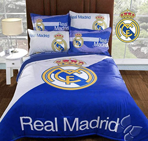 free shipping JORGE'S HOME FASHION INC THE BEST TEAM REAL MADRID ORIGINAL LICENSE TEENS BOYS COMFORTER SET AND SHEET SET 7 PCS QUEEN SIZE