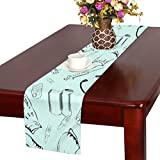 Jnseff Pattern Medicine Seamless Medical Products Surgery Table Runner, Kitchen Dining Table Runner 16 X 72 Inch For Dinner Parties, Events, Decor