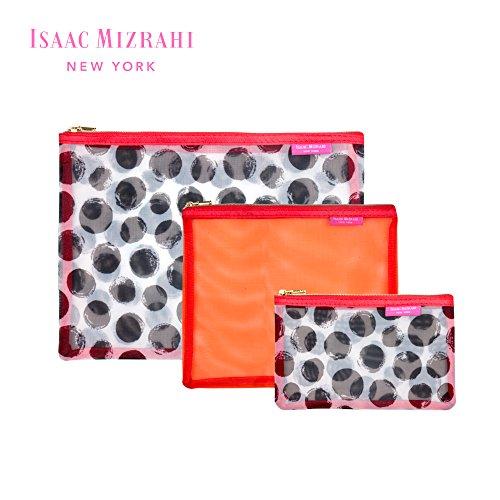 134af2a1cce0 Isaac Mizrahi Travel Cosmetics Mesh Pouch Organizers Three Piece Set ...