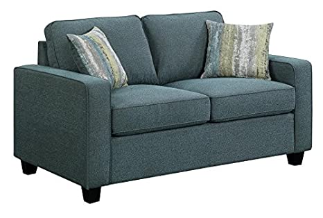 Scott Living 506522 Brownwood Loveseat, Blue