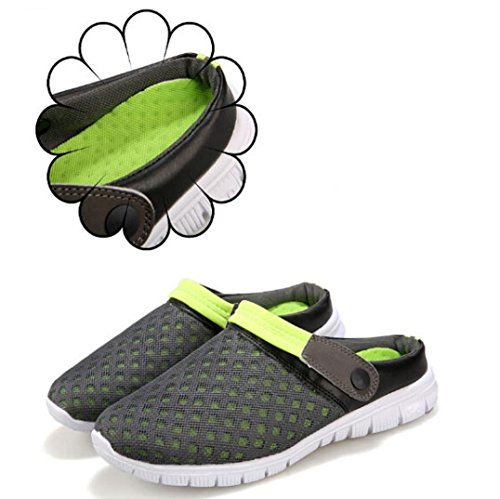 Ladies Shoes Out Flat Heels Summer Ankle Summer Strap Bovake Casual Green Sandals Flop Sandal Lovely Shoes Mesh Buckle Shoes Sandals Hollow Flip Bohemia Couples Unisex Wedges Footwear Breathable x6YxwO1Hq