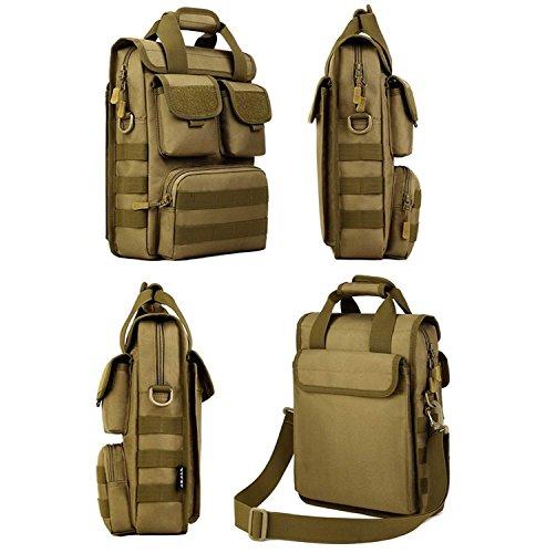 6 vertical de Kai bolso Marrón total Hung militar camuflaje libre de de deportes al material hombro hombro colores bolso impermeable aire táctico bolso qtwUqdE