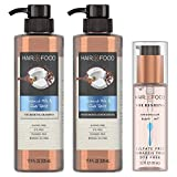 Hair Food, Shampoo, Conditioner and Hair Oil Kit, Sulfate & Dye Free, Coconut & Chai Spice Purifying Formula, 17.9 oz, 17.9 oz, & 3.2 oz, Triple Pack