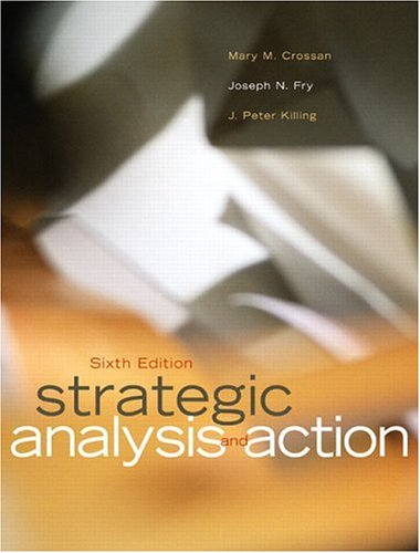 Strategic Analysis and Action (6th Edition)