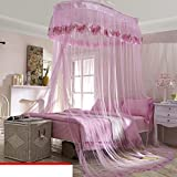 Elegant Double Sucker,Princess Hanging Mosquito Nets/Fashion Three Open The Door£¬thickened To Wear Lace Mosquito Nets/Simple Daughter Bed To Increase Mosquito Nets-J D