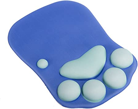 Cat Paw Mouse Pad with Wrist Support Soft Silicone Wrist Rests Wrist Cushion Comfort Mouse Pads Computer Mouse Mat Desk Decor