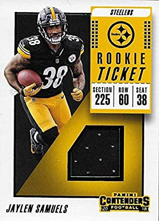 free shipping bf33a 5e042 Amazon.com: 2018 Panini Contenders Rookie Ticket Swatches ...