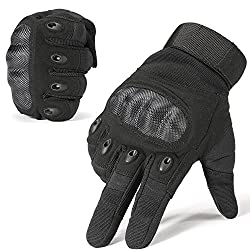 JIUSY Touch Screen Hard Knuckle Tactical Full Finger Gloves and Half Finger Gloves for Army Military Outdoor Motorcycle Cycling Racing Hunting Hiking Airsoft Paintball Shooting Work