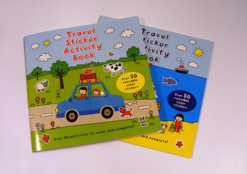 Travel Games for Kids Activity Books Coloring Sticker Book 1 set of 2 Different Books Coloring and Sticker Books, Word Search, Travel Games, Color the Shapes, Spot The Difference, Color the Shapes Follow the Lines, Word Search, How Many?, Crosswords, and More!!!