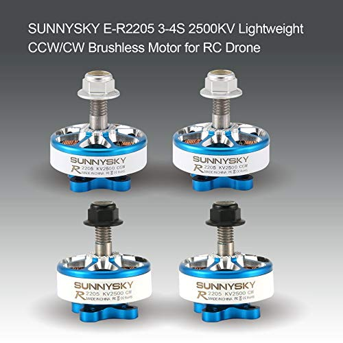 Wikiwand SUNNYSKY E-R2205 2500KV 3-4S Lightweight CW/CCW Brushless Motor for RC Drone