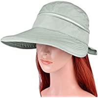 aadb49bc69c VBIGER Visor Hats Wide Brim Cap UV Protection Summer Sun Hats For Women