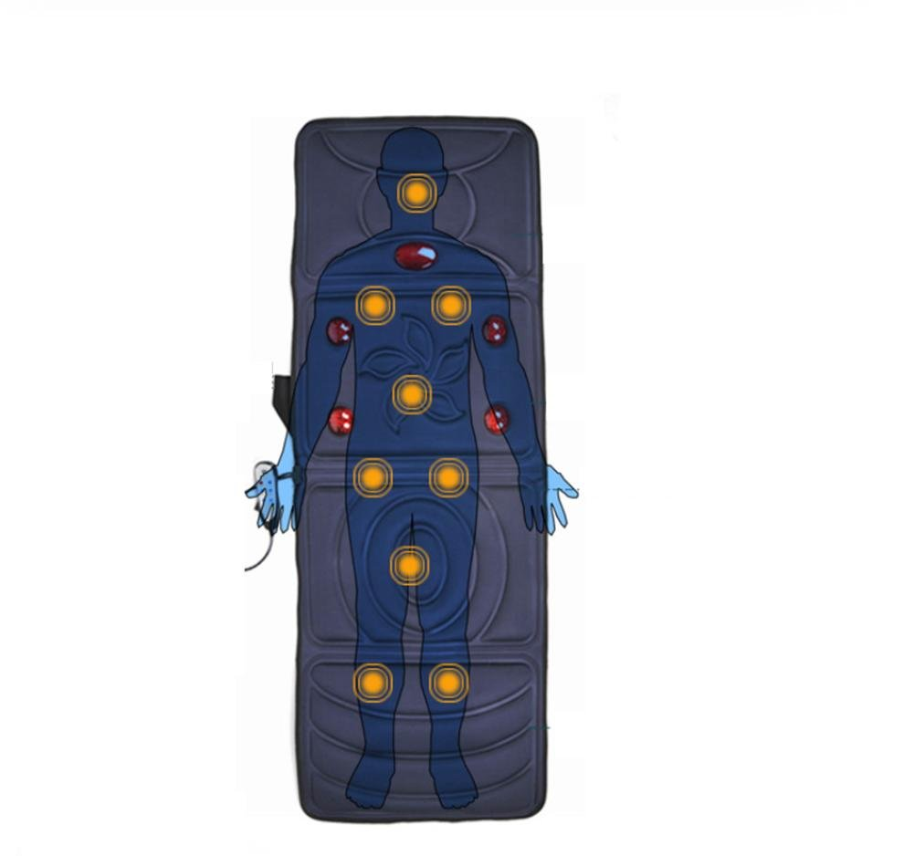 AMYMGLL Multifunción colchones de masaje calefacción nueve puntos versión de actualización vibración del cuerpo de una descarga eléctrica de masaje manta ...