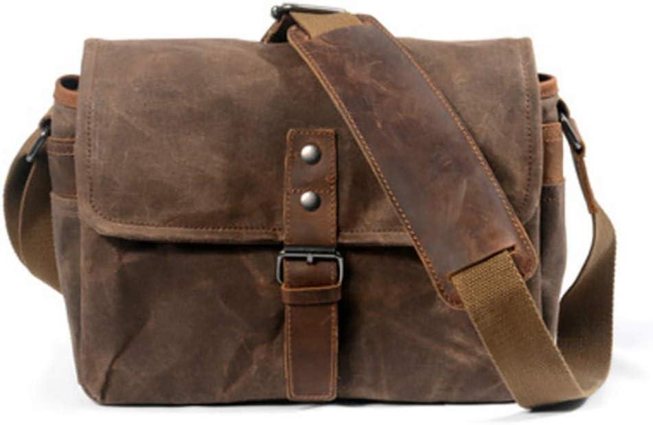 Color : Gray LOkyst Vintage Style Camera Shoulder Bag Canvas Bag Compact Camera Case Lady Shoulder Bag
