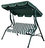 K&A Company Outdoor 2 Canopy Swing Hammock Patio Person Furniture Porch Yard Backyard Glider Steel Awning Loveseat Seat Bench Garden Chair Persons