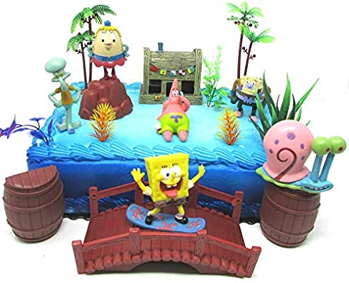 Fantastic Spongebob Squarepants And Friends Birthday Cake Topper Set Funny Birthday Cards Online Inifofree Goldxyz