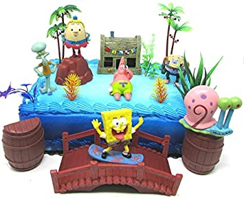 Miraculous Spongebob Squarepants And Friends Birthday Cake Topper Set Funny Birthday Cards Online Alyptdamsfinfo